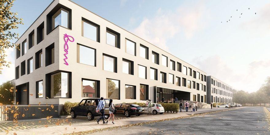 So soll's aussehen: Ein Rendering des geplanten Moxy Hotels in Rust