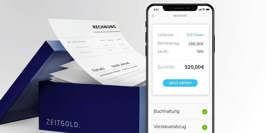Eine App fürs Backoffice: So präsentiert sich die Lösung von Zeitgold
