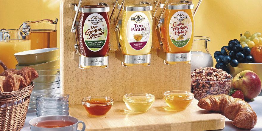 Spart Abfall: Spendersysteme, wie hier für Honig von Breitsamer.