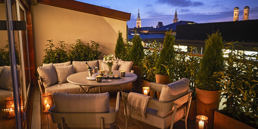 Luxus auf dem Dach: Der Royal Wing bietet besondere Blicke über München