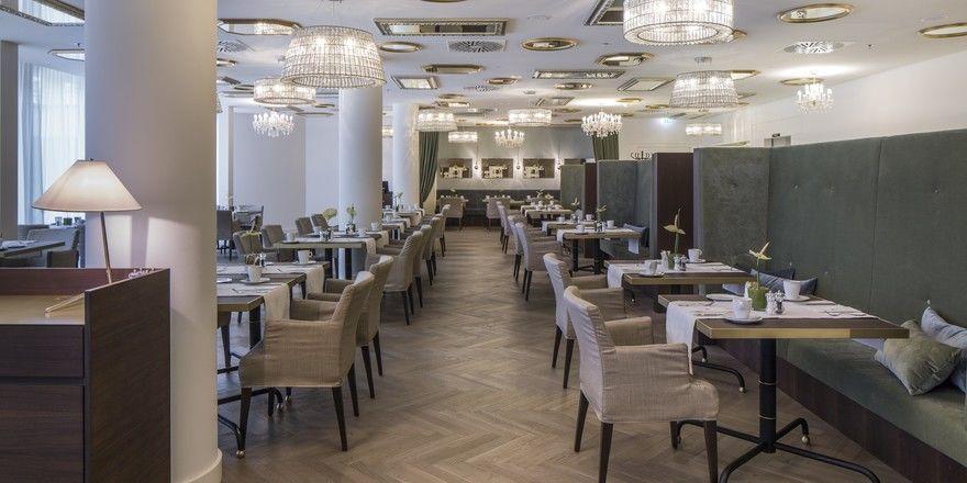 Stilvoll: Das Restaurant im neuen Maxx by Steigenberger in Wien