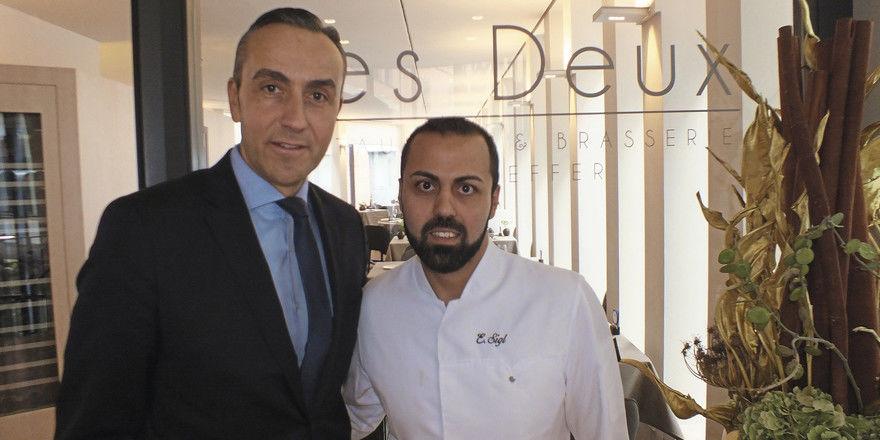 Bewährtes Team: Der Les Deux-Betreiber Fabrice Kieffer und sein Küchenchef Edip Sigl