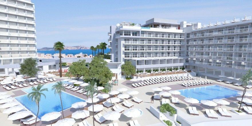 So soll's aussehen: Ein Rendering des geplanten Amàre Beach Hotels auf Ibiza