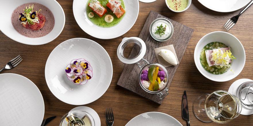 Sharing im Luxushotel: Das Hotelrestaurant Pots lässt Gäste Gerichte auch teilen