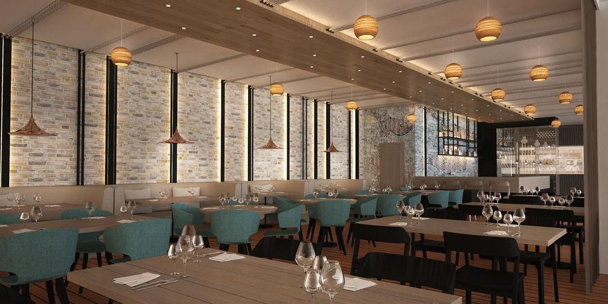 Reduziertes Design: Das Restaurant Danevang im Steigenberger Alsik