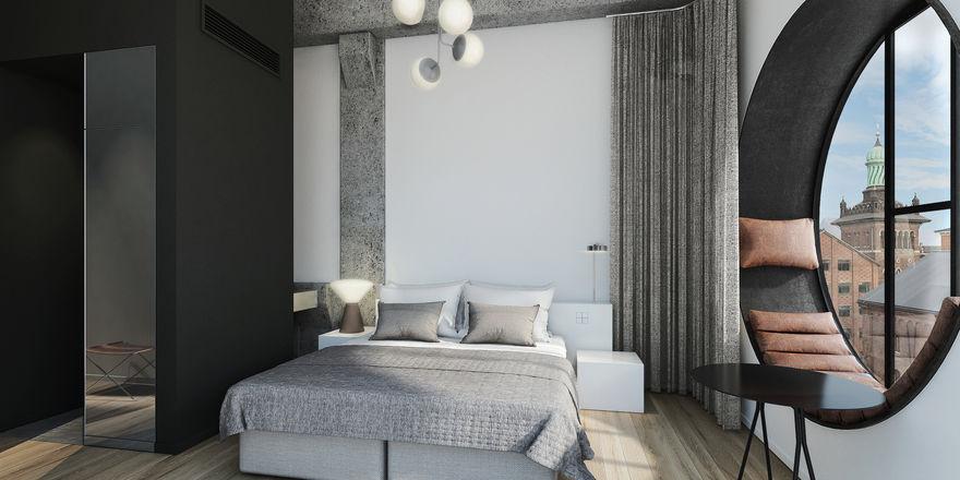 Reinigt sich selbst: Eines der Zimmer im Kopenhagener Boutique-Hotel Ottilia
