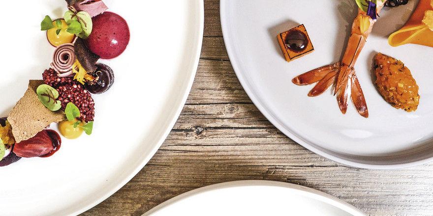 Leuchtend: Ein typisches Gericht von Maike Menzel, der frisch besternten Küchenchefin des Münchner Restaurants Schwarzreiter.