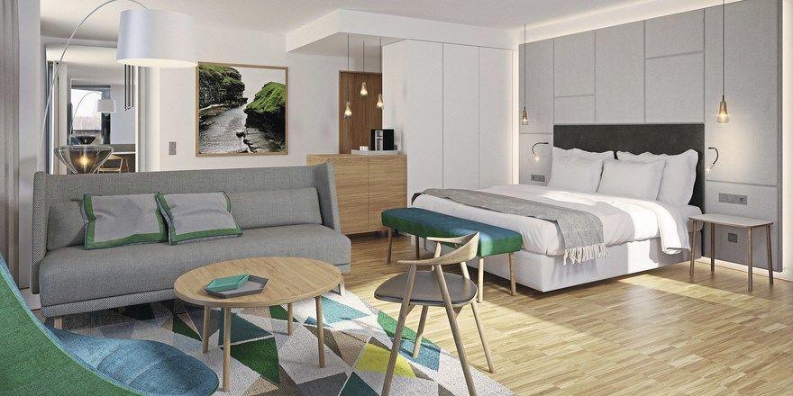 Hotelzimmer im Hygge-Stil: Das Steigenberger Hotel Alsik in Sønderborg setzt auf die skandinavische Gemütlichkeit. Gäste haben einen spektakulären Blick auf den Alssund und die Küste.