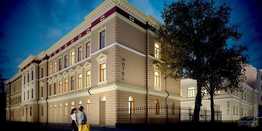 Historische Bausubstanz: Hier hinein zieht das Ruby in Helsinki