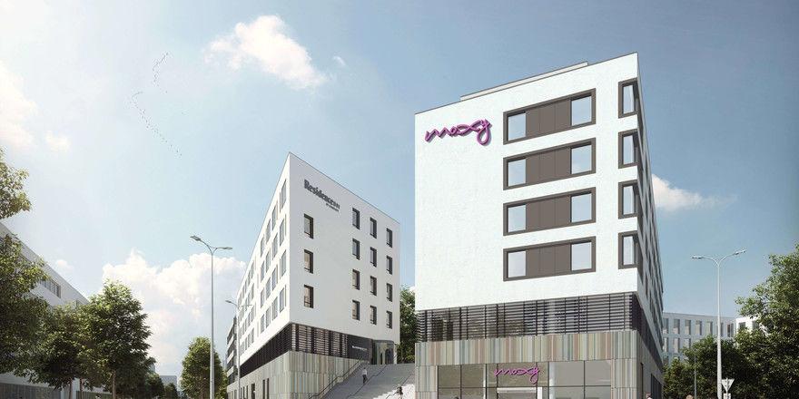 Liegen nebeneinander: Ein Moxy und ein Residence Inn am Münchner Ostbahnhof