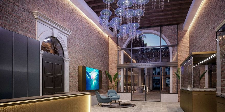 Maritimes Motto im Mittelpunkt: Die Lobby des Hotel Aquarius Venice, an Ascend Hotel Collection Member