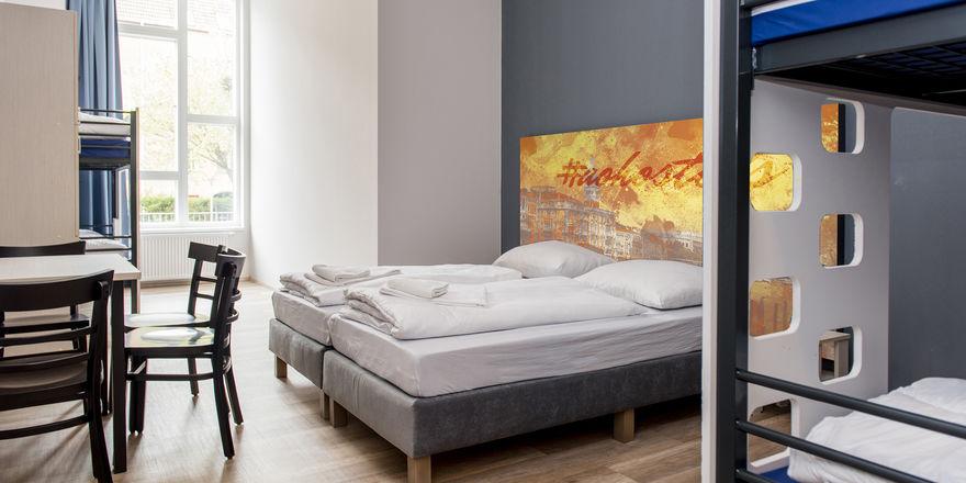 Design im Mehrbettzimmer: Dafür steht die Kette A&O, hier ein Raum in Venedig
