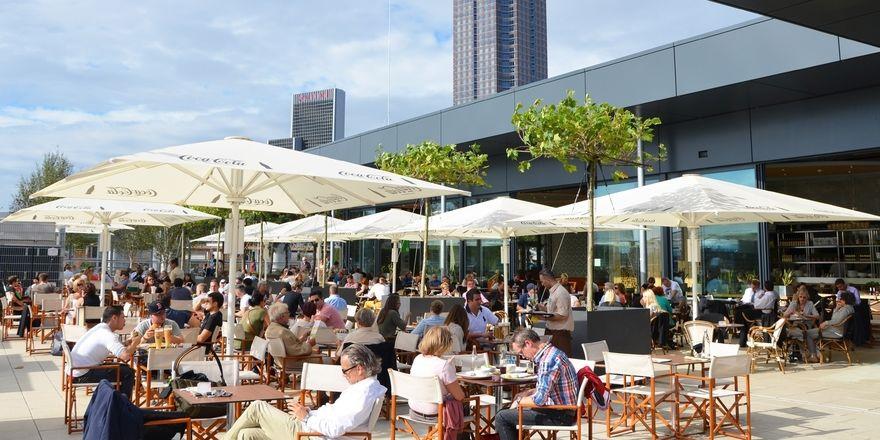 Ganztagesgastronomie: Alex will alle Mahlzeiten abdecken, hier die Filiale Frankfurt Skyline Plaza