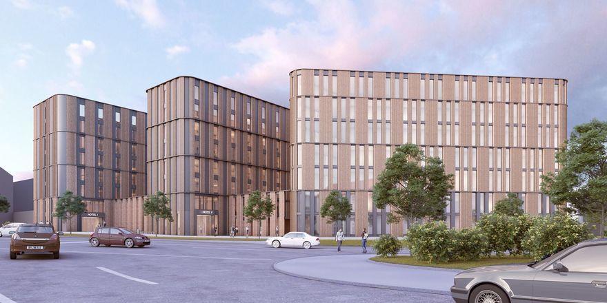 Kommen nach Rostock: Ein Arthotel Ana und ein B&B Hotel (Rendering)