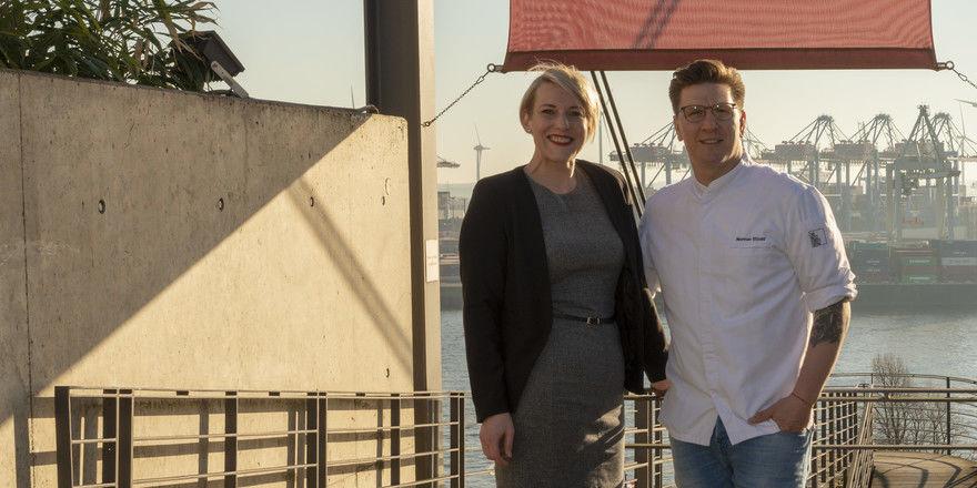 Neustart: Annika Stoldt, Geschäftsführerin im Le Canard Nouveau, mit dem neuen Küchenchef Norman Etzold