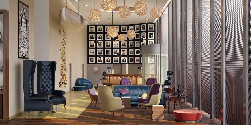 490-Zimmer-Flaggschiff in Amsterdam: Blick in die Lobby des im April startenden Leonardo Royal Amsterdam.