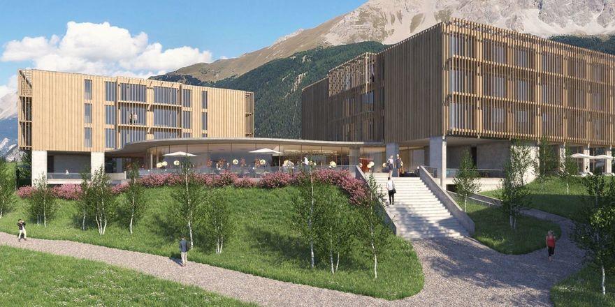 So soll es aussehen: Das erste Mövenpick Mountain-Resort in Graubünden.