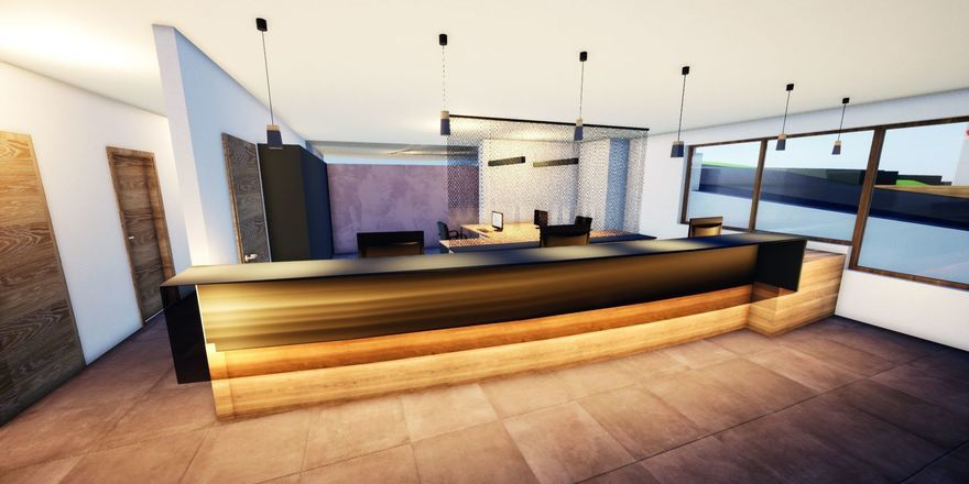 So soll's aussehen: Die neue Rezeption im Hotel Kaiserblick, Ellmau