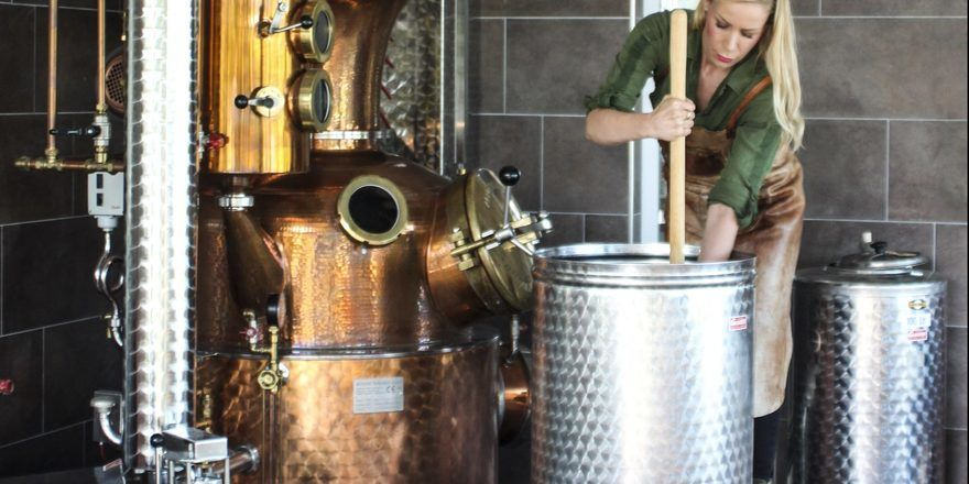 Julica Renn in der Distillerie