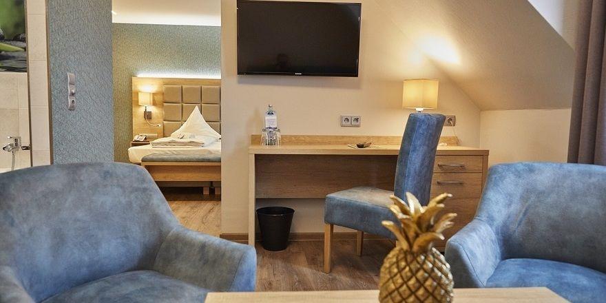 So sehen sie aus: Eine der Juniorsuiten im Akzent Hotel Acamed Resort Nienburg