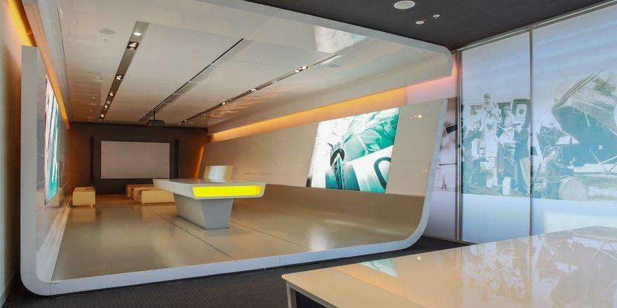 """Flexibel einsetzbar: Einer der Tagungsräume im sogenannten """"Think Terminal"""" im Konferenzhotel Lufthansa Seeheim"""