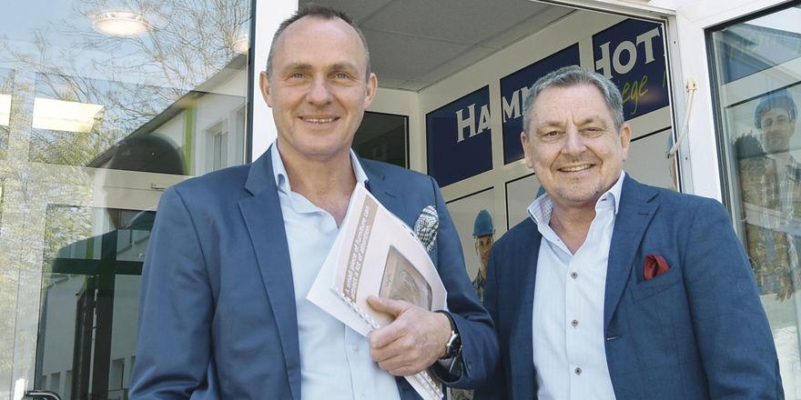 Ideenreiche Unternehmer: Die Geschäftsführer Uwe Martens (links) und Gunnar Schlicht