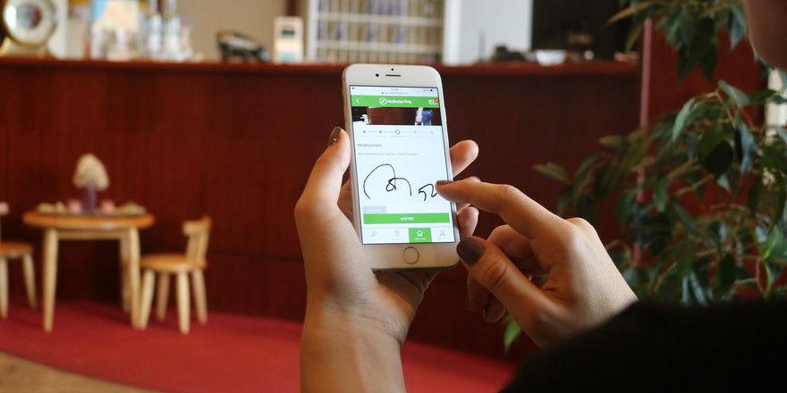 Digital geleistete Unterschrift: So soll sie im Haffhus künftig akzeptiert werden