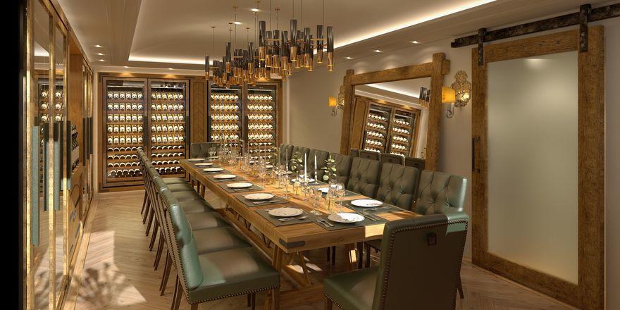 Mehr Raum für Meetings: Der Bankettraum namens Weinkabinett im Hotel Goldener Hirsch bietet Platz für bis zu 16 Personen