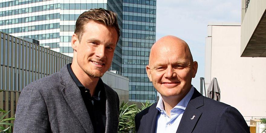 Neue Zusammenarbeit: Fußballprofi Marcell Jansen und Hotelchef Alex Obertop