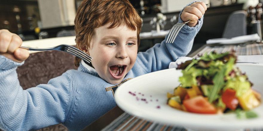 Selten: Kaum ein Kind bestellt sich einen großen Salat.