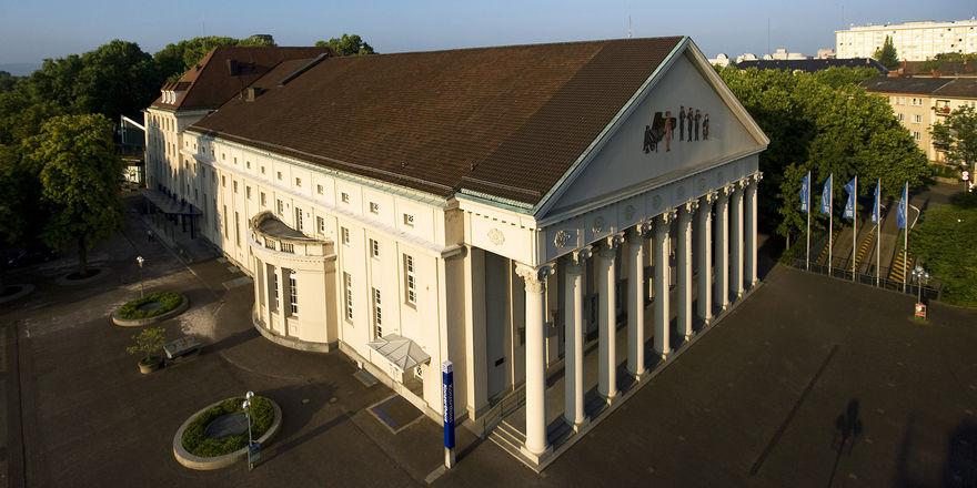Konzerthaus des Kongresszentrums Karlsruhe: Hier fand die Generalversammlung der HGK statt
