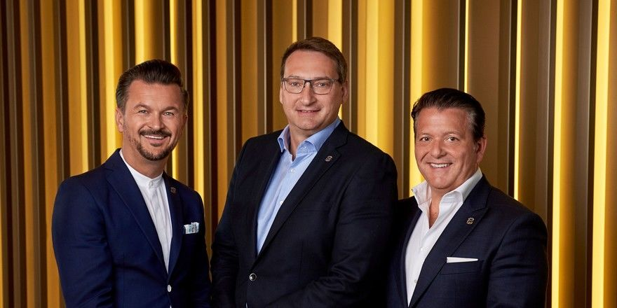 Hat jetzt drei Geschäftsführer: Bei der Gorgeous Smiling Hotels GmbH stehen ab sofort (von links) Heiko Grote, Andreas Erben und Holger Behrens an der Spitze