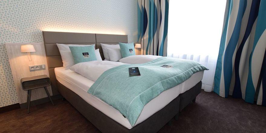 Maritimes Flair: Eines der Zimmer im neuen The Niu Rig in Lübeck