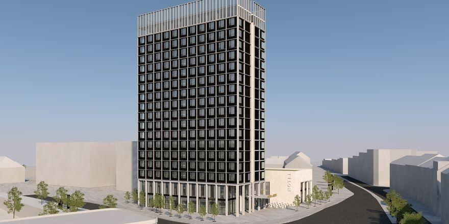 So soll's aussehen: Ein Rendering des künftigen Ghotels in Dortmund