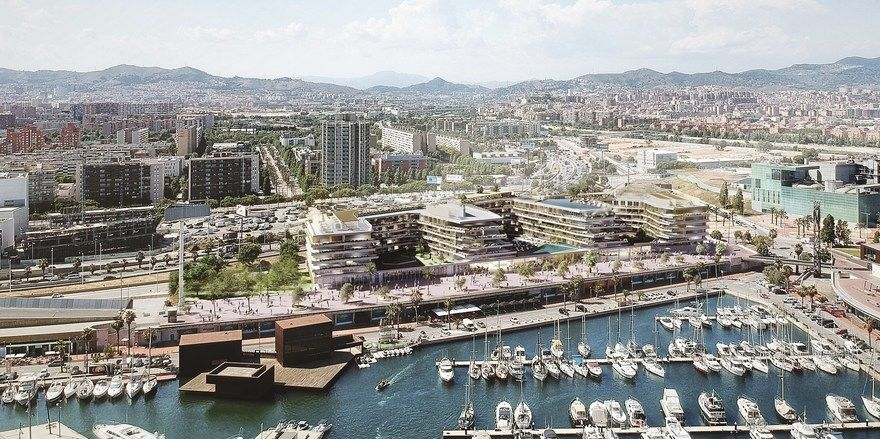 Gefragter Standort: Die Seafront von Barcelona.