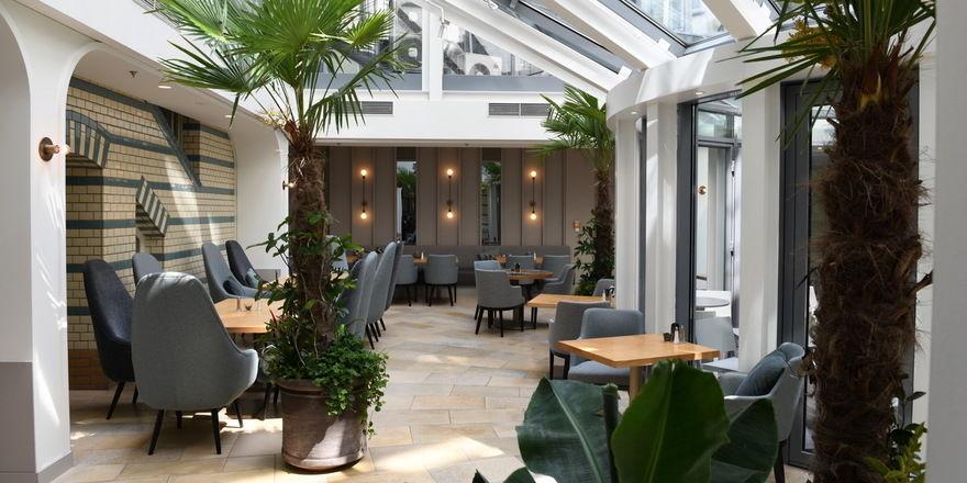 Renoviert: Die Lounge-Area im Hotel Alexander Plaza