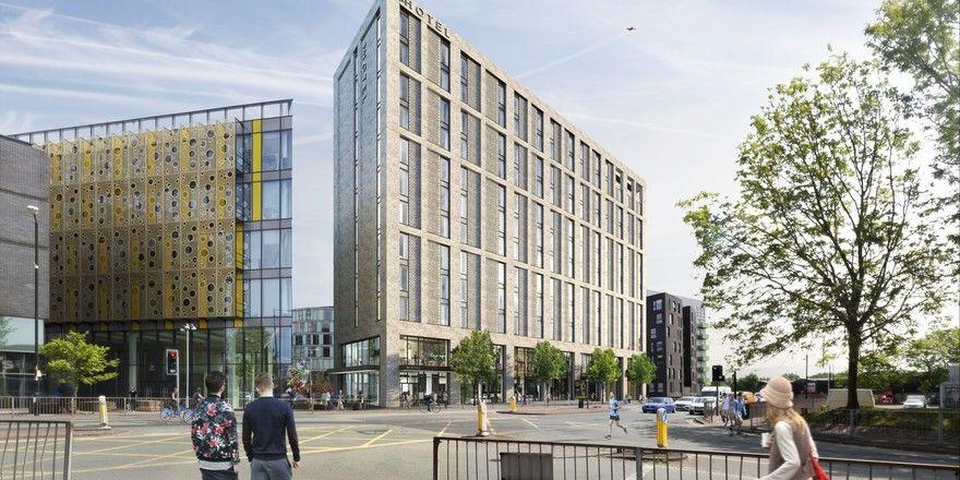 So soll's aussehen: Ein Rendering des geplanten Meininger in Manchester
