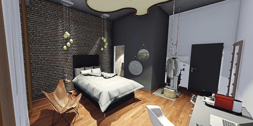 Hohe Decken sorgen für Loft-Atmosphäre: Zimmer im neuen Haus der Gruppe in Hannover.