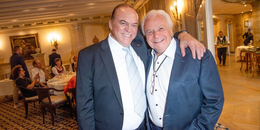 Zwei ganz Große der Branche: Heinz Winkler (links) und Eckart Witzigmann bei der Feier zu Winklers 70. Geburtstag
