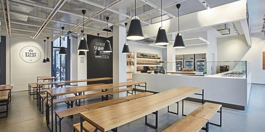 Blick in den Gastraum: Das neue Stadtsalat-Restaurant in Berlin