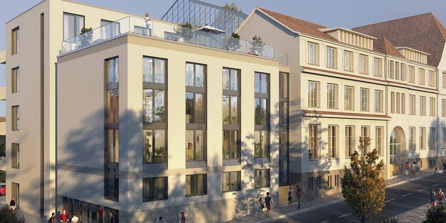 Begehrte Mikro-Apartments: Hier ein Visualisierung eines Pantera-Projekts in Esslingen