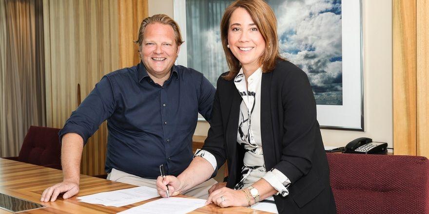 Freuen sich auf die künftige Zusammenarbeit: Björn Freitag und Britta Kutz