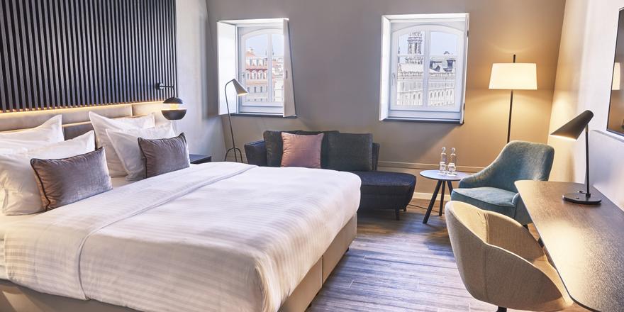 Generalüberholt: Die Zimmer im Steigenberger Hotel de Saxe
