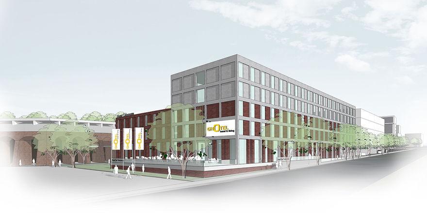Noch als Rendering: Das Ghotel Hotel & Living in Bochum