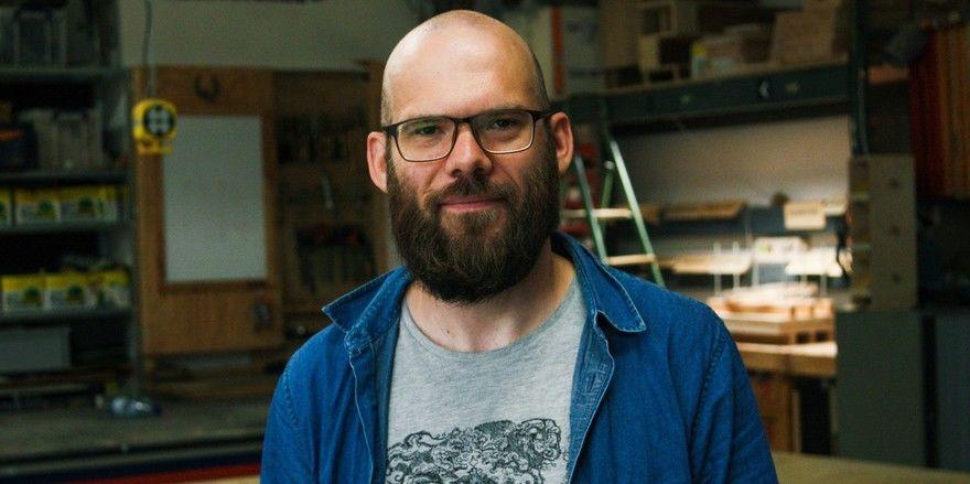 """Steht auf dem Programm: Basteln mit Upcycler Moritz Jüdes in seiner """"Werkstatt für Alles"""""""