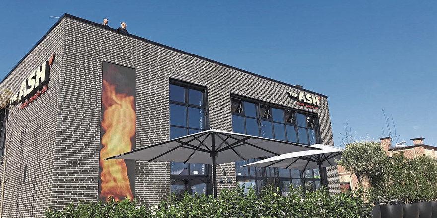 Bereits am Start: Der Freestander in Bochum