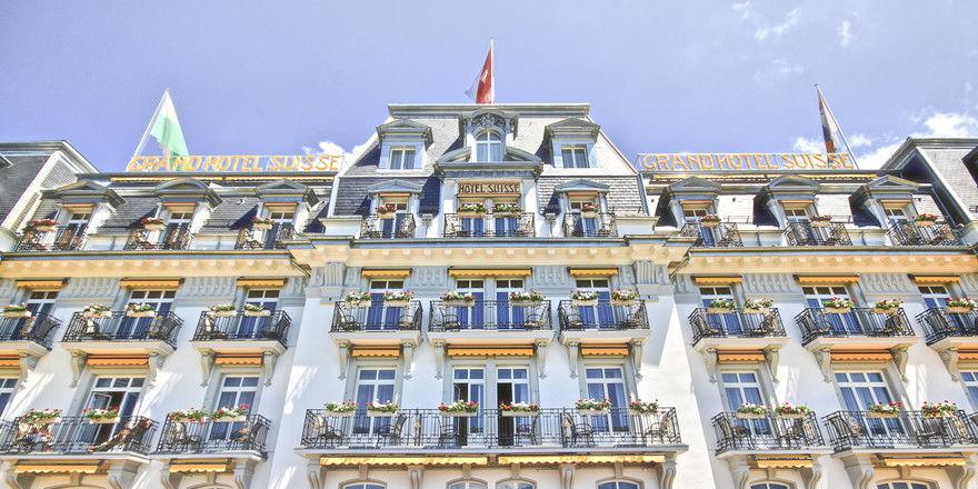 Imposantes Gebäude: Bei dem Suisse Majestic handelt es sich um ein Grand Hotel im klassischen Belle-Époque-Stil