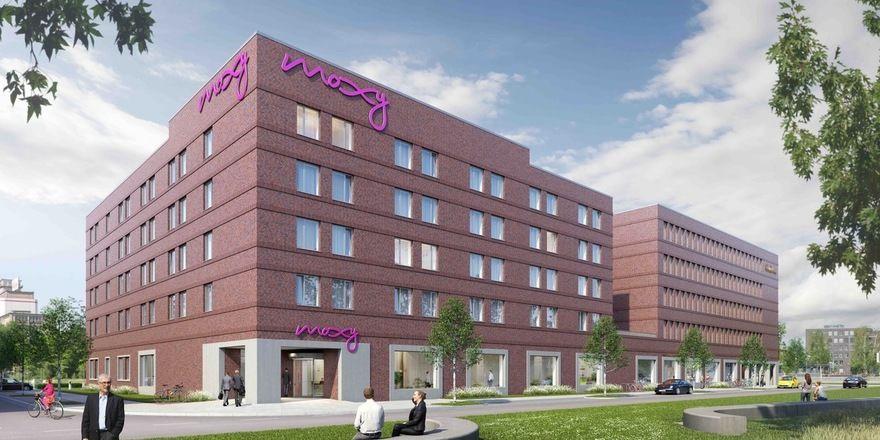 Grundstein gelegt: Das neue Moxy im Bremer Überseequartier