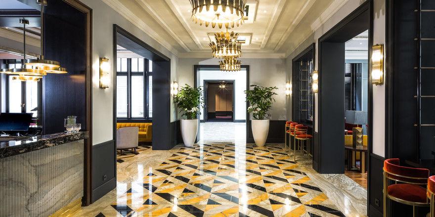 Hereinspaziert: So präsentiert sich die Lobby des Ameron Frankfurt Neckarvillen Boutique