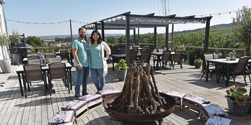 Sommerliches Highlight: Nadeschda Schmitt und Frank Spaleniak auf der Panorama-Terrasse
